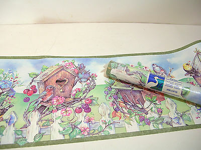 Chesapeake Wallpaper Border, Birds and Birdhouses, 15 Feet Unopened Roll