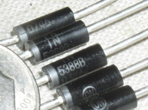 5 ON SEMI 1N5388B 200V 200 V VOLT 5W 5 W WATT AXIAL POWER ZENER CLAMP DIODE USA