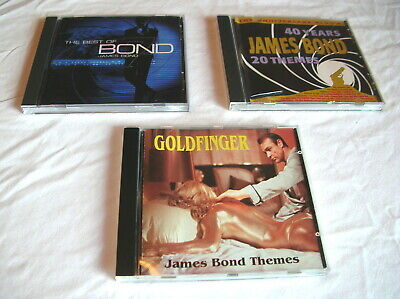 3 JAMES BOND 007 CDs!! 40 YEARS THEMES, GOLDFINGER, THE BEST OF BOND..JAMES (The Best Of Goldfinger)