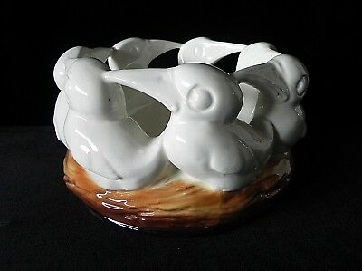 Vintage BABY BIRDS IN NEST CERAMIC BOWL