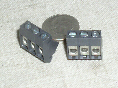 2 Weco 974-t-ds03 3 Pos Pole Position 5mm Pcb Pwb Terminal Block 20 A Amp Usa