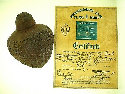 EX. MOSHE DAYAN COLLECTION - CRUSADE PERIOD FIRE BOMB - PROVENANCE & CERTIFICATE