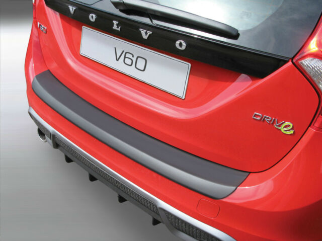 BLACK RGM REAR GUARD BUMPER PAINT SCUFF PROTECTOR VOLVO V60 11.2010on RBP563