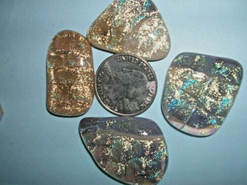 L 8 Dichroic glass cabochons cabs, extra special colors low price