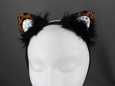 Cheetah leopard cat kitten ears headband hair band accessory kawaii cosplay - Cheetah Ears Headband