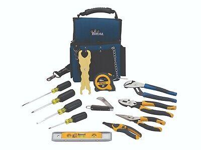 Ideal Industries Journeyman Electricians Tool Kit - New 13 Piece Tool Set
