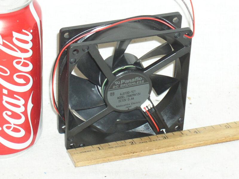 1 NEW HI SPEED HWB BEARING PANAFLO FBA09A12V 92MM BOX FAN 12V .4 AMP 40 CFM USA