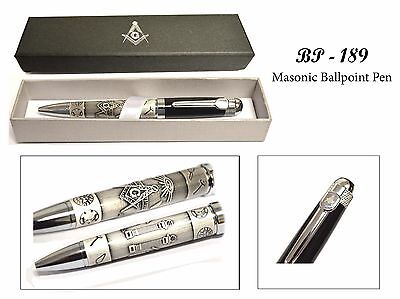 Beautiful Masonic Pen With Gift Box  Buy 2 Or More   Get A Key Chain Free