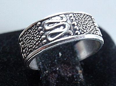 Tribal Style Toe Ring Adjustable 925 Sterling Silver Corona Sun Jewelry
