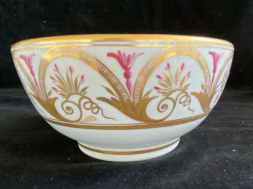 English Porcelain Bowl Hand Painted ca 1810 - John Rose COALPORT Factory