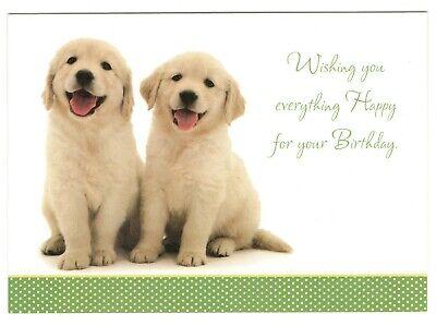 YELLOW LABRADOR RETRIEVER PUPPY Birthday Birthday Greeting Card w/ Envelope G7 ()