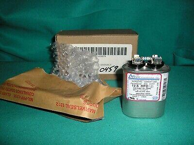 3 uf MFD 370 VAC Round Dual Capacitor 12753 Replaces C3503R CD50+3X370R 50