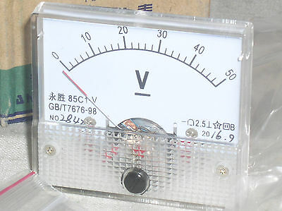 Brand New 50v 50 V Volt Dc Analog Panel Meter Voltmeter Class 2.5 Nib In Usa