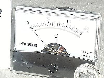 Brand New 12v 15v 15 V Volt Dc Analog Pointer Needle Panel Battery Voltage Meter