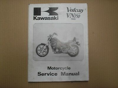 Kawasaki VN 750 VN750 Vulcan 1985-94 genuine workshop manual 99924-1054-09 USED