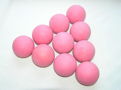 "Pink foam Rubber balls 1 7/8"" diameter 10 per package"