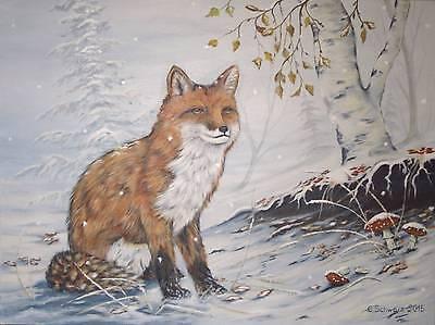 Acrylmalerei Christiane Schwarz; EARLY WINTER ca. 80x60cm, Fuchs Kunst Bild