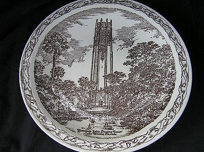 Vintage Vernon Kilns Souvenir Plate Mtn Lake Singing Tower, Lake Wales, FL