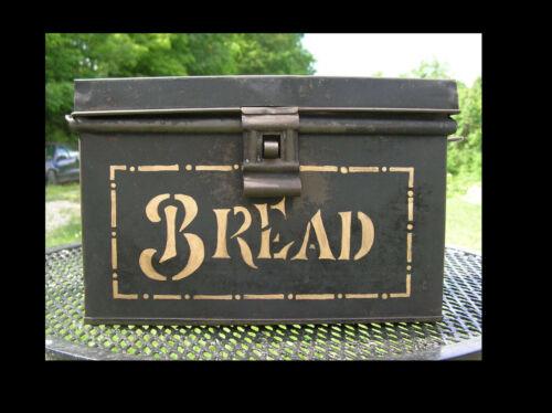 Vintage Rustic Metal Tin Bread Box