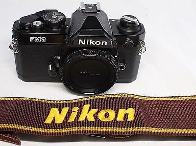 Very good++ Nikon New FM2 35mm SLR Film Camera Black Body Only Made In Japan