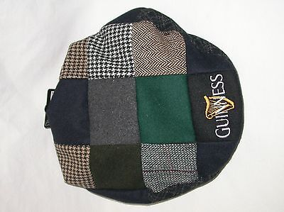 Guinness Guiness Flat Multi Colored Patchwork Cap Hat G6035 L
