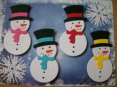 LARGE SNOWMAN SNOWMEN CHRISTMAS  die cuts x 8