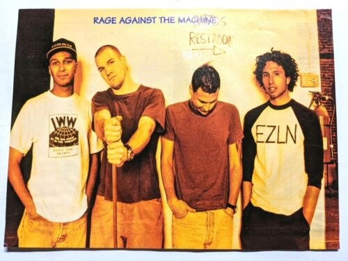 RAGE AGAINST THE MACHINE / MAGAZINE FULL PAGE PINUP POSTER CLIPPING + FREE DVD