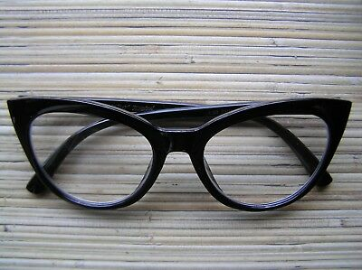 BLACK CAT -EYE READING GLASSES +2.00~  NICE Betsey Johnson's BEST (Best Cat Eye Glasses)
