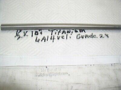 12 Titanium Round Rod 6 Al-4veli 1 Pc.10 Long Grade 23shorter Or Longer