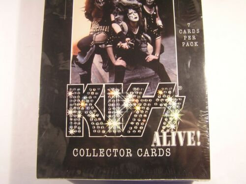 *** KISS ALIVE! *** 2001 COLLECTOR CARDS * UNOPENED BOX * SEVEN CARDS PER PACK
