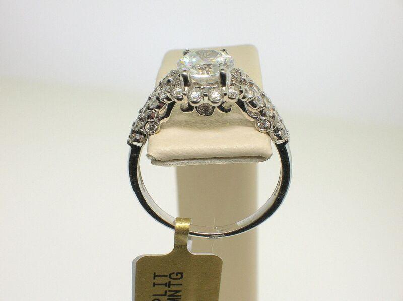 VERRAGIO 18K W/G INSIGNIA 7037 MOUNT 0.60 CT DIAMONDS- SIZE 6.5 US-RETAIL $4250