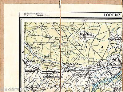 Neuburg/Rhein Büchelberg Lauterbourg 1912 Teil-Karte/Ln. Scheibenhardt Hagenbach