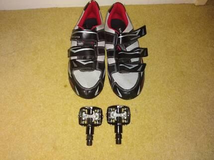 Venzo Mountain Bike Shoes + Clips