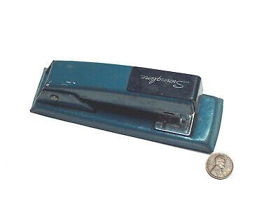 Vintage Swingline 711 Blue Desk Top Home Office Stapler Usa Works Tested