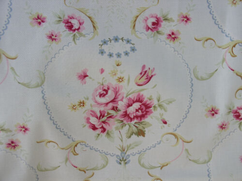 American Folk and Fabric Meadow Rose Upholstery Cotton 1890