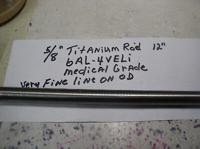 58 Titanium Round Rod 1 Pc. 58 X 12 6al-4veli 23 Polishedfine Line On Od