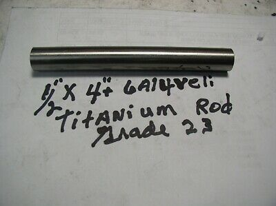 12 Titanium Round Rod 6 Al-4veli 1 Pc.4 Long Polished Inplant Grade