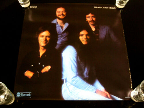 """POCO HEAD OVER HEELS Promotional POSTER LP ABC Records 23 x 23"""""""