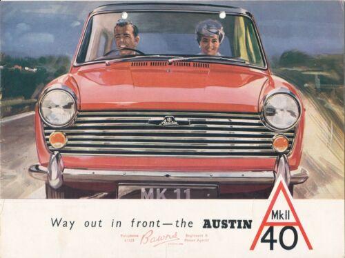 Austin A40 MkII 1961-4 Original Car Sales Brochure UK Edition
