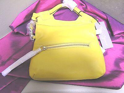 -  Foley & Corinna  DISCO CITY Leather  crossbody bag purse SUNSHINE yellow NEW