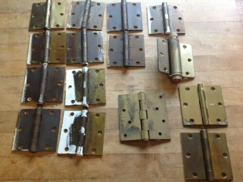"Lot of 15 Vintage 3 1/2"" Door Hinges Hardware McKinney & Stanley"