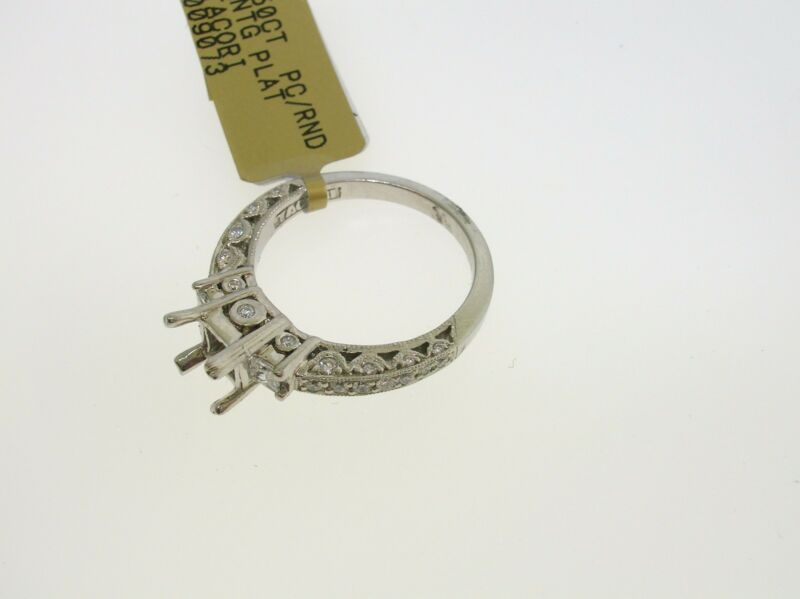 Tacori Platinum Semi-mount 0.50 Ctw Diamonds - Size 6.5 Us - Retail $5030.00!!!!