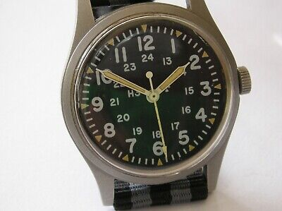 VINTAGE HAMILTON MILITARY ISSUED 1981 WW G 113 33MM WATCH BOND STRAP