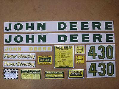 John Deere 430 New Decal Set For Tractors  19-5-7
