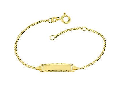 Kinder Baby ID Armband 585 Gold Gelbgold 14cm Gravur Etui u.Versand 5.56549
