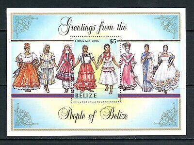 V334  Belize  1986  Women Costumes    sheet   MNH