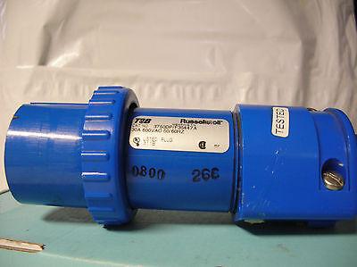 Russellstoll Pin Sleeve Tb 3750dp Spec Grade Ac Plug Male 600v 30a 2p3w Emc