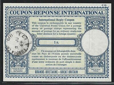 1964 Great Britain International Reply Coupon (IRC) - 1 Shilling