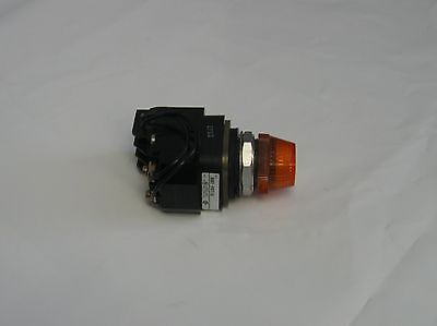 Allen Bradley Orange Pilot Light, 800T-PDT16, w/800T-N296, Used, WARRANTY