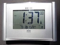 SEIKO R-Wave ATOMIC digital CLOCK 4 x 6 inches